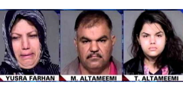 In 2012, the mother, father and sister of 19-year-old Aiya Altameemi were charged with beating her because she refused an arranged marriage to an older man.