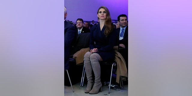 Hope Hicks has wowed in the past, like when she wore a form-fitting tuxedo and bow tie at a Japanese state dinner.