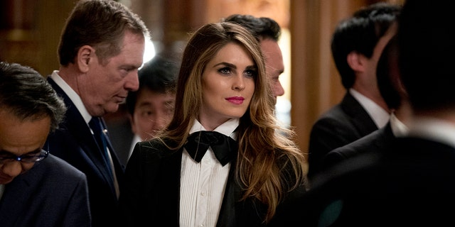 """White House Communications Director Hope Hicks, who served as press secretary on the Trump campaign, is accused in """"Let Trump Be Trump"""" of having little political experience."""