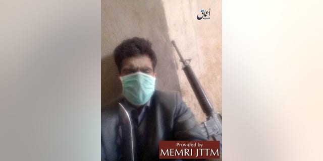 The Islamic State's Amaq media agency released this photo apparently showing an attacker.