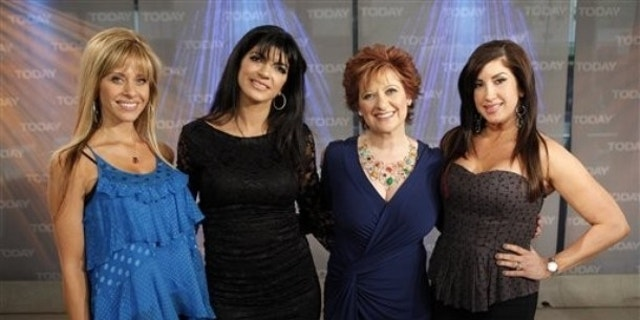 """From left, Dina Manzo, Teresa Giudice, Caroline Manzo and Jacqueline Laurita from """"The Real Housewives of New Jersey"""" appear on NBC's """"Today"""" show, in New York, on Wednesday, April 28, 2010."""