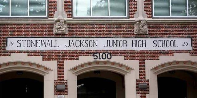 "Thomas ""Stonewall"" Jackson Middle School was renamed Yolanda Black Navarro Middle School of Excellence."