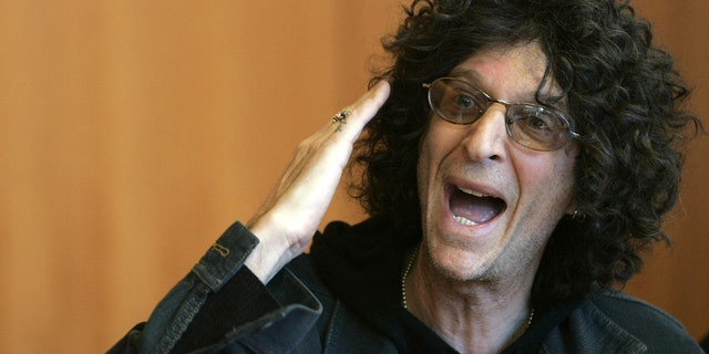 Radio personality Howard Stern speaks during a news conference in New York February 28, 2006.
