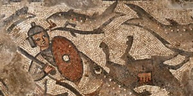 The parting of the Red Sea Mosaic (credit: Jim Haberman).