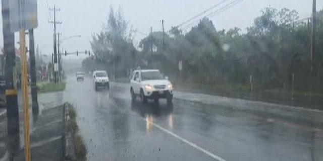 Heavy rain has been falling on the Big Island of Hawaii since Wednesday.