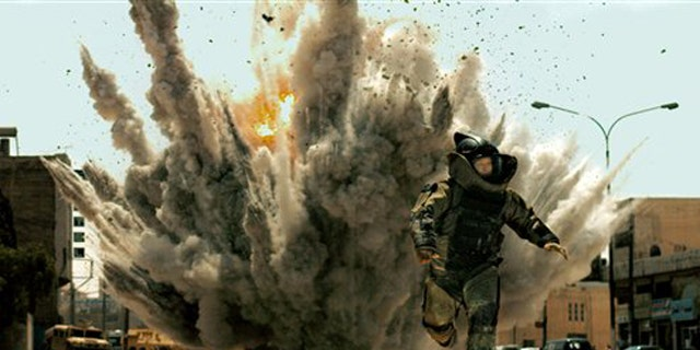 """In this film publicity file image released by Summit Entertainment, Jeremy Renner is shown in a scene from, """"The Hurt Locker."""""""