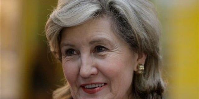 Sen. Kay Bailey Hutchison visits Wharton, Texas, March 1, 2010.