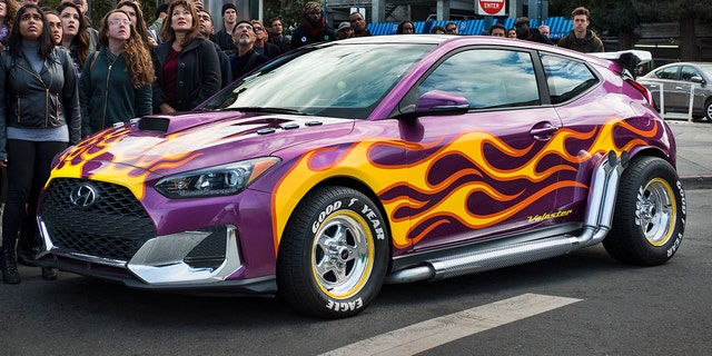 "A custom Hyundai Veloster was featured in the film ""Ant-Man""."
