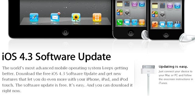 ios 4.3 3 software update free download