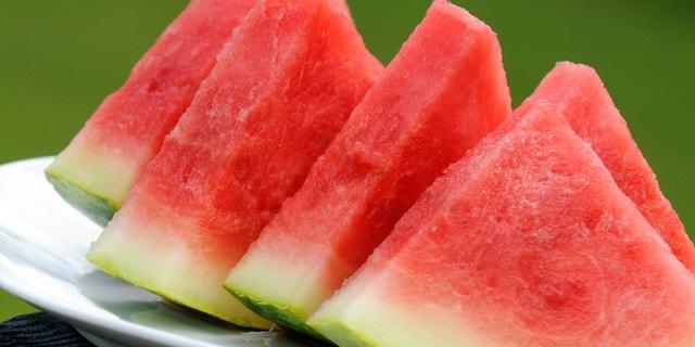 Fresh Watermelon Cut Into Wedges