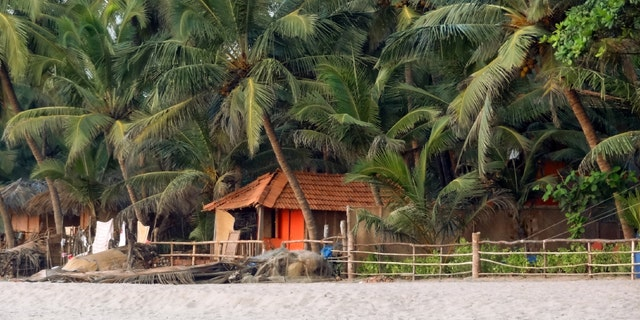 scenery at Agonda Beach in Goa, India