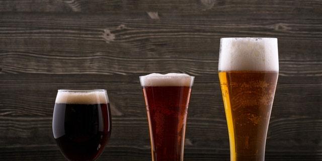 Various types of beer