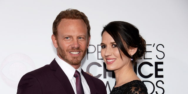 Ian Ziering and Erin Kristine Ludwig arrive at the 2014 People's Choice Awards on January 8, 2014 in Los Angeles, California.