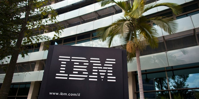 File photo - The IBM logo is seen outside the company's offices in Petah Tikva, near Tel Aviv Oct. 24, 2011. (REUTERS/Nir Elias)