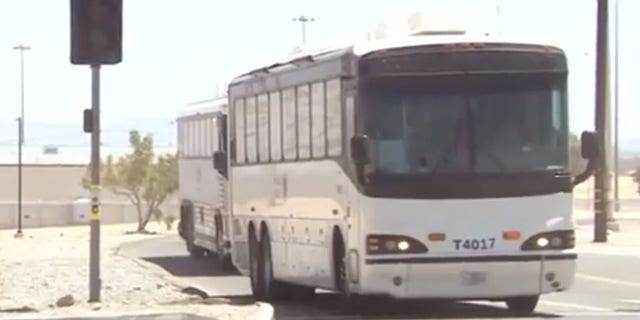 Busloads of illegal immigrants are being transferred to a federal prison in Victorville, California.