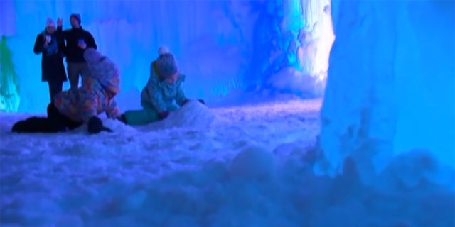 The company behind the attraction says an estimated 100,000 will visit the Ice Castles this year.