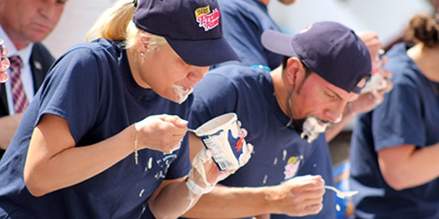 Miki Sudo, a top-ranked competitive eater from Las Vegas, competes.