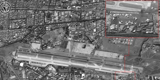 Maharabd base, one of the Syrian airfields where Iranian personnel are stationed, according to the IDF.