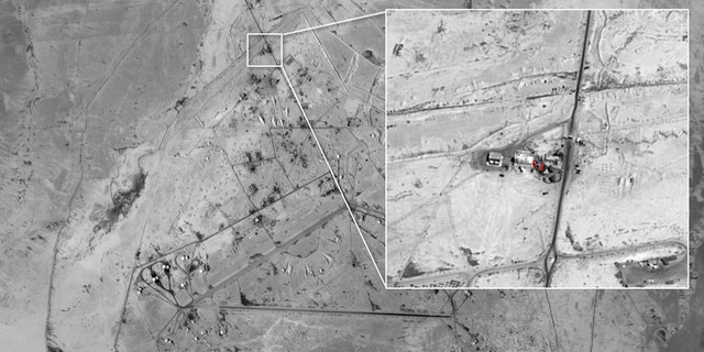 The Sayqal base in Syria.