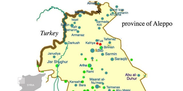 Map of Syria's AQ-dominated Idlib