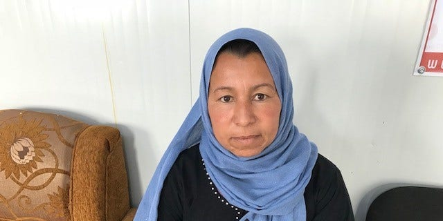 Basma Aiden, an Iraqi mother who returned to an IDP camp after attempting to go back to Mosul