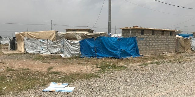 Baharka IDP camp near Erbil, Iraq where many of those who fled the ISIS onslaught lived for years. But after attempting to return home, scores of families are coming back in fear of their safety.