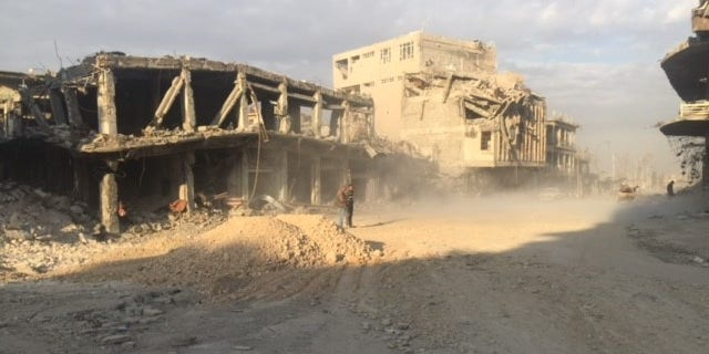 Heavy destruction in Mosul's Old City.