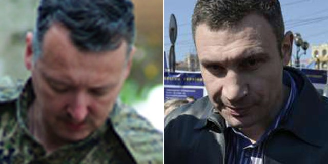 Separatists led by Igor Strelkov, (l.), gunned down an ally of Kiev Mayor Vasili Klitschko, (r.), in an incident that is likely to inflame Ukraine's volunteer militias. (Jamie Dettmer, Reuters)