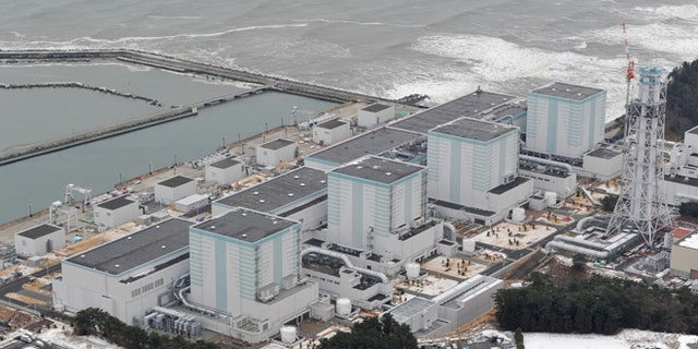 An aerial view shows Tokyo Electric Power Co.'s Fukushima Daini nuclear power plant in Naraha town, Fukushima prefecture, Japan, in this photo taken by Kyodo February 26, 2012.