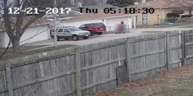 An image taken from video surveillance released by the FBI that captured the kidnapping of a young girl in Calumet City, Ill.