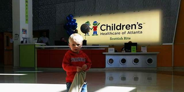 Levi Fisher, 2, was released from Children's Healthcare of Atlanta after spending 4 days in the PICU.