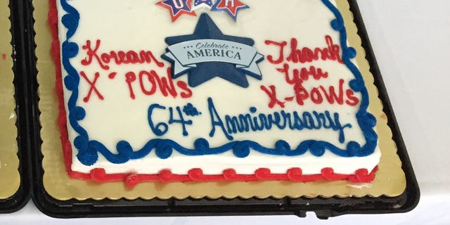 The event culminated Saturday evening with cake, ice cream, and stories from the war.
