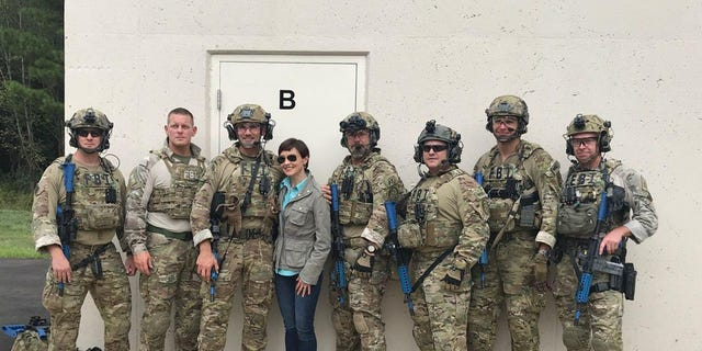 Fox News' Catherine Herridge with the Tactical Special Agent Bomb Techs from the Hazardous Devices Training School in Huntsville, Alabama.