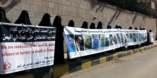 """In several major cities across Yemen, the female activists routinely call street demonstrations they refer to as """"peace strikes"""" which often end in them being attacked and fleeing from abduction themselves"""