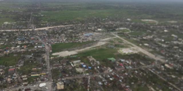 Hurricane damage in Les Cayes, Haiti.