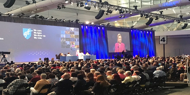 Hillary Clinton gave a speech at the American Federation of Teachers (AFT) union conference.