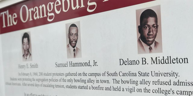 A memorial dedicated to the victims of the Orangeburg Massacre on the South Carolina State University campus.