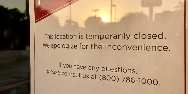 In-N-Out customers across Texas found these signs hanging from the restaurants' doors earlier this week.