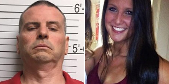 Daniel Messel, left, in a booking photo provided by the Brown County Sheriff's Department via the Bloomington Herald-Times, and Hannah Wilson, in a photo on a fundraising page in her honor.