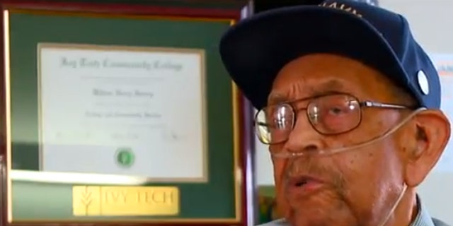 William Henry Harvey was given an honorary college degree as a thank you for his time in the military during World War II.