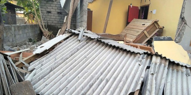 This image, made from video released by Indonesia's Disaster Mitigation Agency, shows the damage caused by an early morning earthquake on the island of Lombok, Indonesia, Sunday, July 29, 2018.