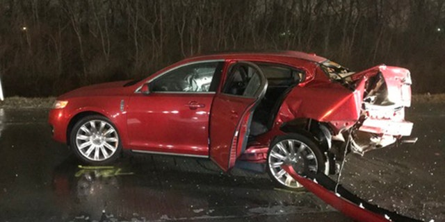 The car that Jackson and Jeffrey Monroe were traveling in Sunday.