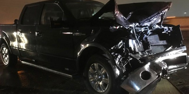 Orrego-Savala's truck was totaled after the crash.