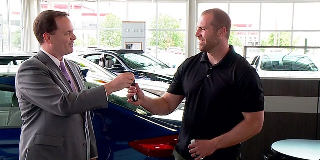 Jason Seaman received a new car from an Indianapolis-area dealership on Wednesday.