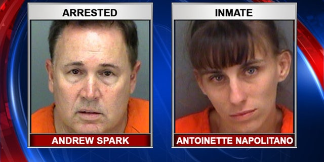 Andrew Spark was caught paying female inmates, including Antoinette Napolitano, for sex, police say.