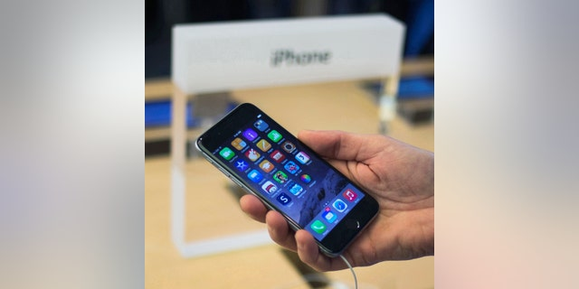 File photo - A customer holds an iPhone 6 on display at the Fifth Avenue Apple store on the first day of sales in Manhattan, New York Sept. 19, 2014. (REUTERS/Adrees Latif)
