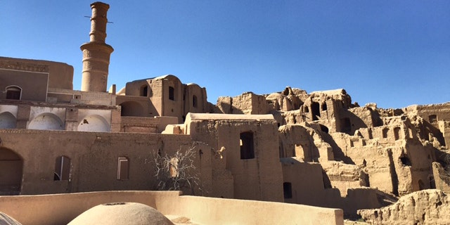 Ancient mudhouse villages, no longer inhabited, in the Yazd countryside