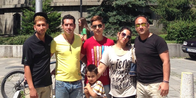 Omid Salehi, (l.), and five family members have moved to Bulgaria, where they can practice their faith in peace.
