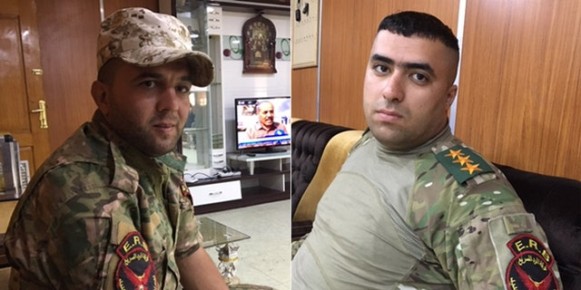 First Soldier Omar Salah al wad, (l.), and Capt. Omar Nazar, (r.), are ready totake Mosul back from ISIS.