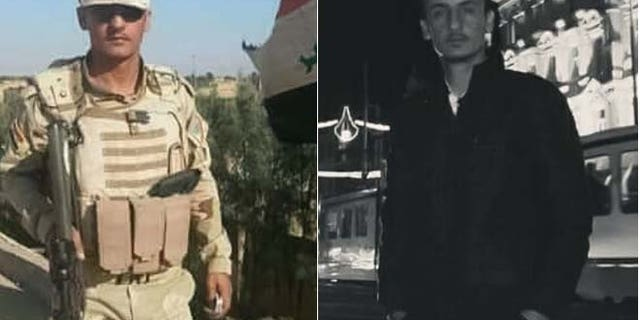 Then and now: Saido as an Iraqi soldier, before his capture, and now, in an undisclosed location.